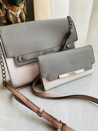 GUESS Sling Bag + Wallet