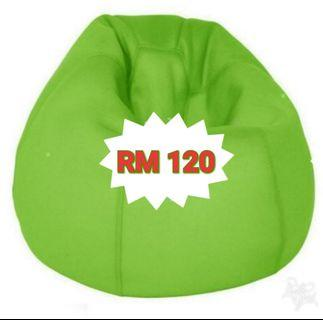 Green Bean Bag EPS Thermocool Granules Large Size
