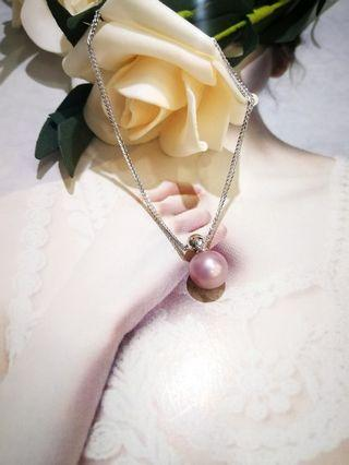 S925silver Chopin chain with fresh water Pearl Pendant