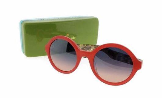 Kate Spade Sunglasses Khrista Orange Havana + Case