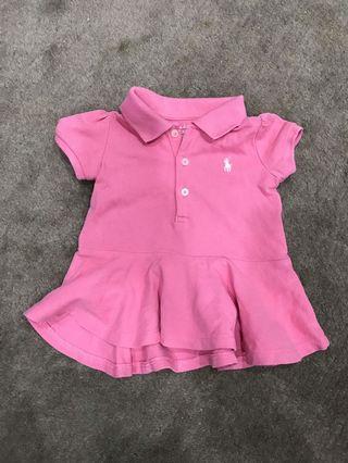 Ralph Lauren Polo Shirt pink top for baby girl