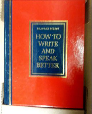 """Readers Digest """"HOW TO WRITE AND SPEAK BETTER"""""""