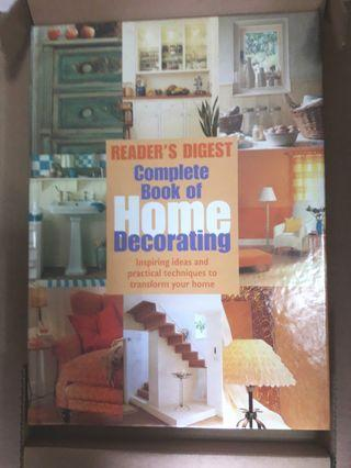 """Readers Digest """"COMPLETE BOOK OF HOME DECORATING"""""""