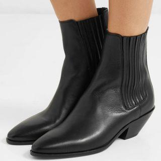 SAINT LAURENT West leather ankle boots (NP)