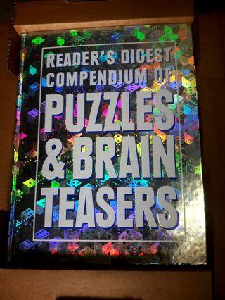 """Readers Digest """"COMPENDIUM OF PUZZLES & BRAIN TEASERS"""""""