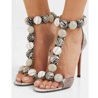 Alaïa Bombe 110 studded elaphe sandals (NP)