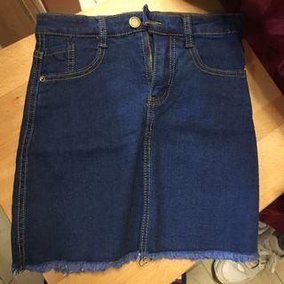 🦋深藍瑟ㄉ緊身牛仔裙紙