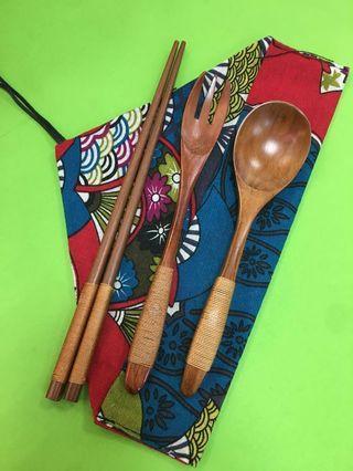 隨身環保木製餐具套裝