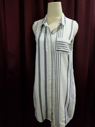 Cotton On Collared Striped Dress