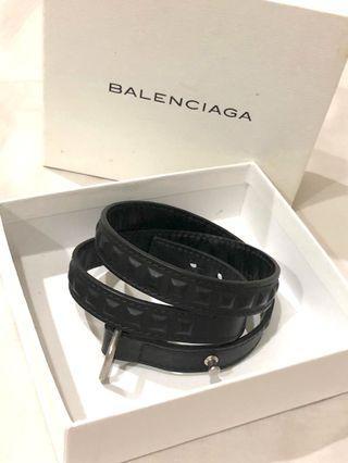 Balenciaga Tour Leather Bracelet