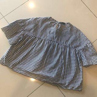 SEED Checker blouse (big sale)