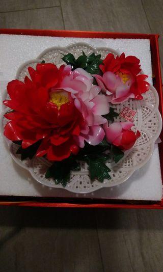中國洛陽。牡丹瓷。天香國色