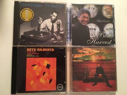 CDs: Stan Getz/Donald Fagen/玉置浩二