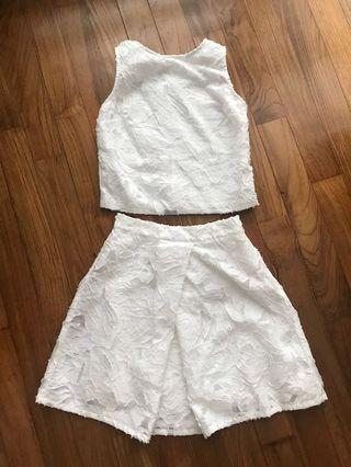White Top and skirt