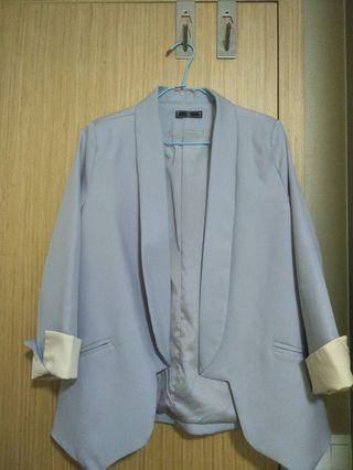 Grey long jacket office