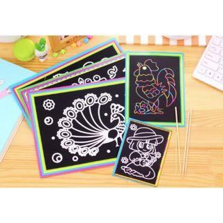 Kids Birthday Goodie Bag Scratch Art