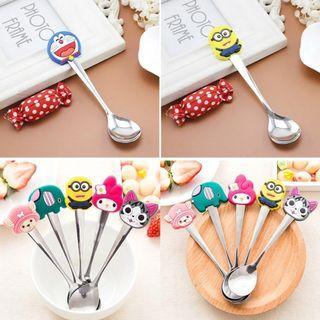 PROMO Ice Cream Small Spoons Cute Cartoon Characters
