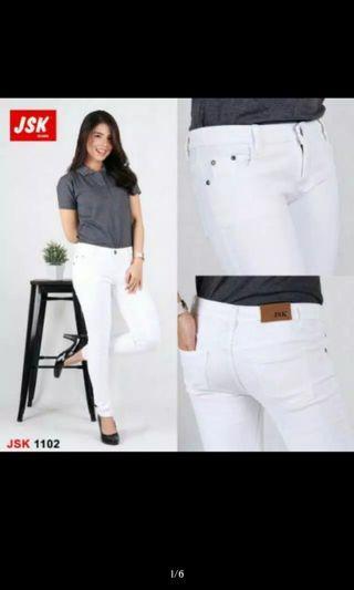 Jeans JSK putih