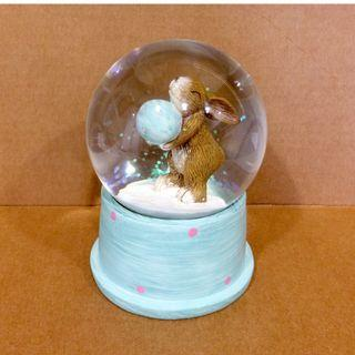 Sweet! GLASS SNOW / WATER DOME With Bunny & Glitter