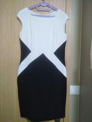 Black and white corporate dress