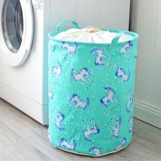 New Arrival Big Mint Unicorn Laundry Basket Bag