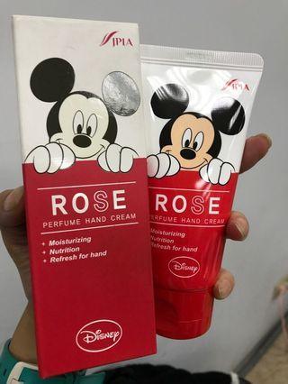 韓國 lapia. Disney 護手霜 米奇 玫瑰香。80ml