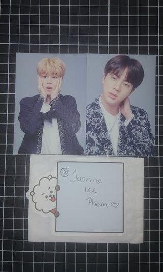 Jin & Jimin Final world tour photocards