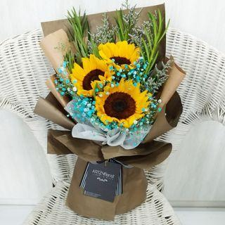🚚 #182 | 3 Sunflower Bouquet | Convocation Graduation | Birthday | Anniversary