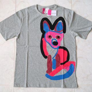 MAISON KITSUNE Paris Japan Acide Fox Print T-shirt Limited