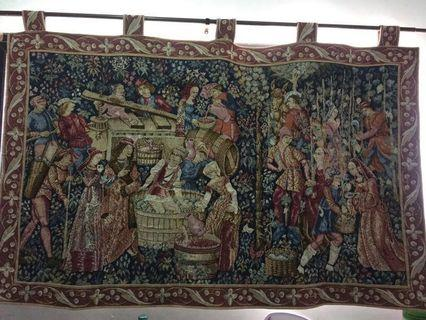 GOLBYS MADE IN FRANCE TAPESTRY WINE PRESSING TIME