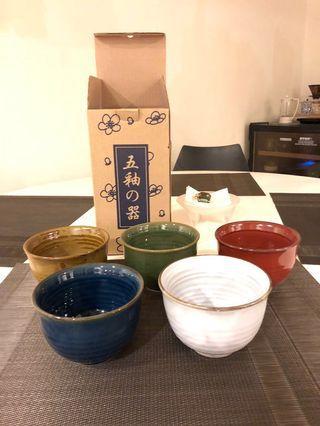 🚚 五釉陶碗