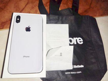 iPhone XS Max 256gb silve ada bon invoice