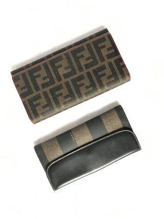 Authentic Fendi Long Wallet Combo
