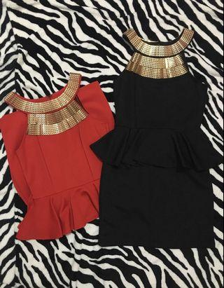 Party Dress (Black & Red)