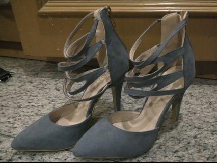 Grey Zalora High Heels