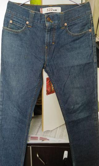 Levis 522 牛仔褲 silm jeans 古著 30腰