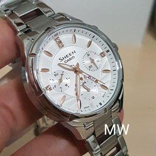 Original casio sheen ladies classic Swarovski crystal watch brand new