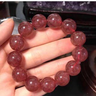 天然草莓晶手鏈 14.5mm