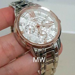 Casio original ladies sheen classic stainless steel Swarovski crystal watch brand new