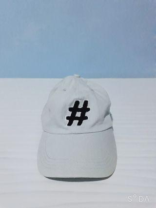 Topi hashtag# biru muda