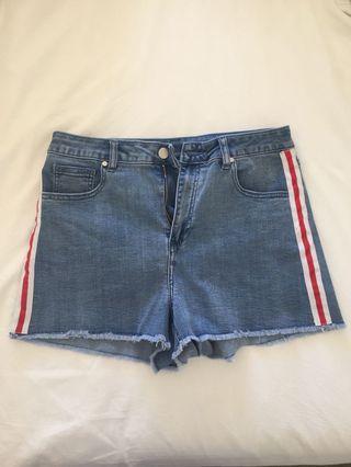 Seed Teen Striped Denim Shorts Size 16 BRAND NEW