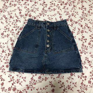🚚 cotton on highwaist denim skirt