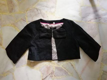 Mango Black Suit Cropped Jacket