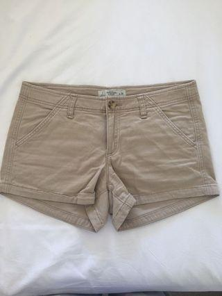 Abercrombie & Fitch Camel Shorts Size 2/W26