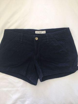 Abercrombie & Fitch Navy Shorts Size 2/W26