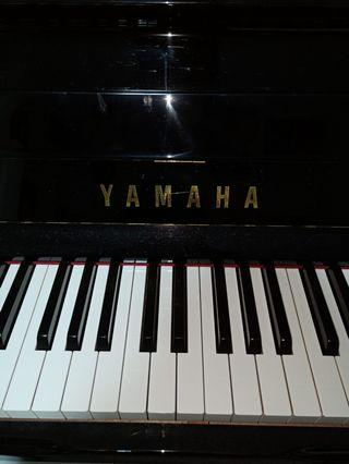 Yamaha Piano UPRIGHT U1J PE WITH BENCH & Floral Pink Cover