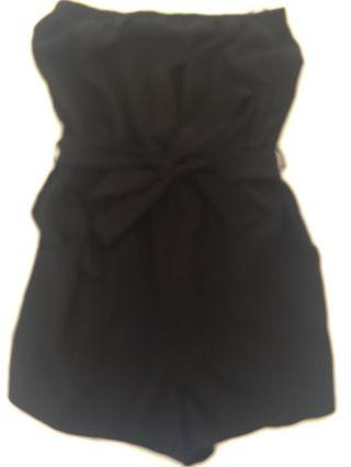 Forever 21 Black Strapless Playsuit Size S