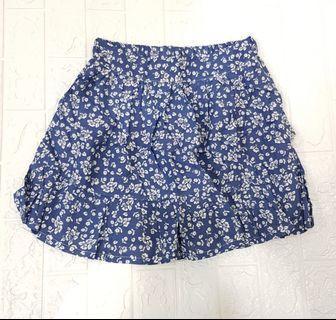 韓版藍色棉質碎花裙~現貨!