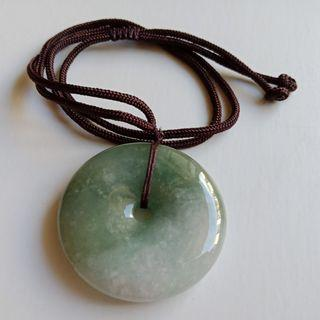 Jade Carving: Jade Donut c/w String Necklace