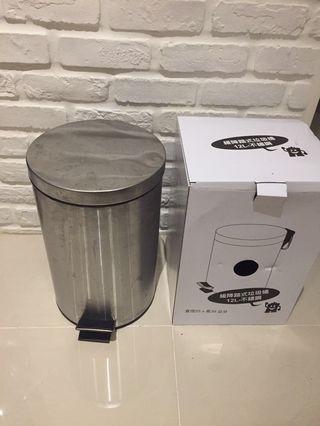 12L不繡鋼開合垃圾桶(買大送小)